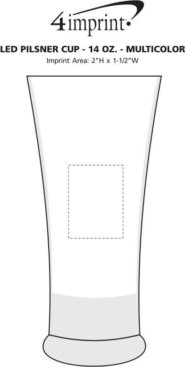 Imprint Area of LED Pilsner Cup - 14 oz. - Multicolor