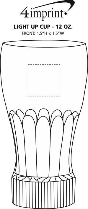 Imprint Area of Light-Up Cup - 12 oz.