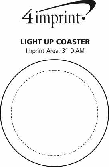 Imprint Area of Light-Up Coaster