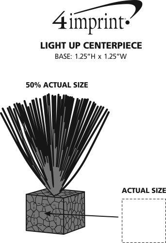"""Imprint Area of Light-Up Centerpiece - 5-1/2"""""""