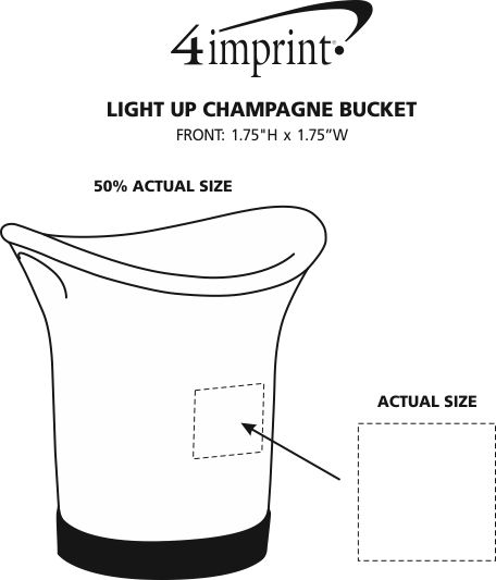 Imprint Area of Light-Up Champagne Bucket