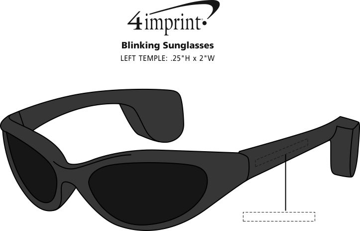 Imprint Area of Blinking Sunglasses