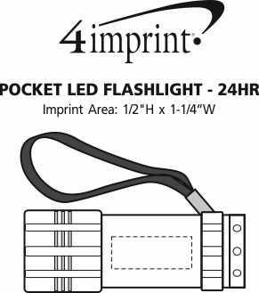 Imprint Area of Pocket LED Flashlight - 24 hr