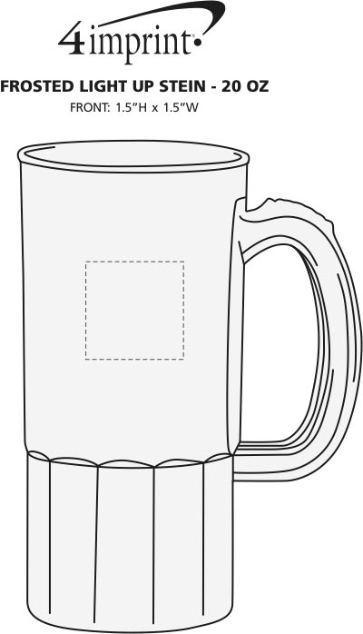 Imprint Area of Frosted Light-Up Stein - 20 oz.