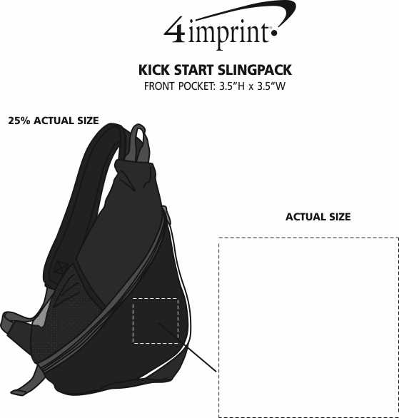 Imprint Area of Kick Start Slingpack