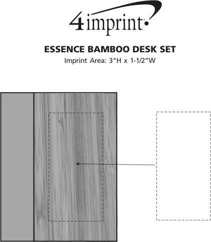 Imprint Area of Essence Bamboo Desk Set