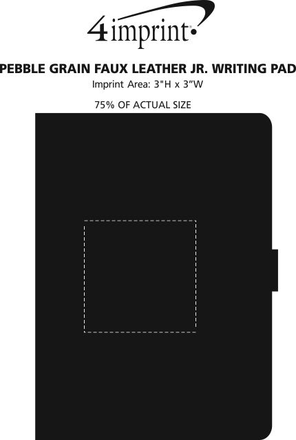 Imprint Area of Pebble Grain Faux Leather Jr. Writing Pad