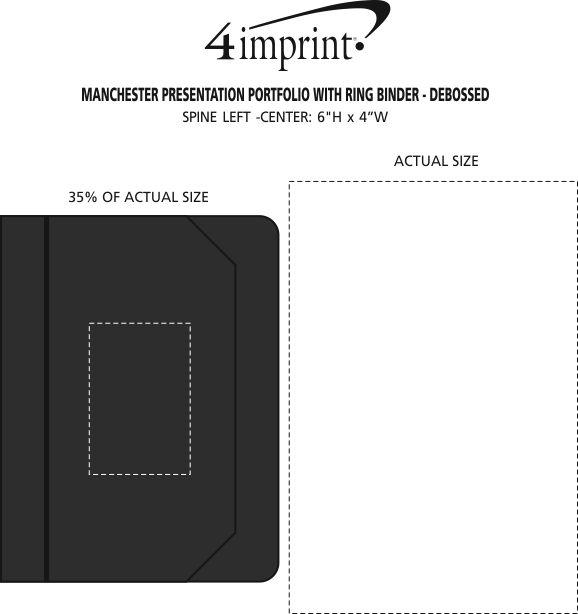 Imprint Area of Manchester Presentation Portfolio with Ring Binder - Debossed