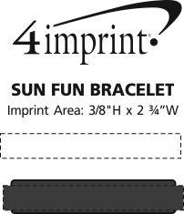 Imprint Area of Sun Fun Bracelet