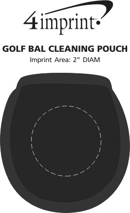 Imprint Area of Golf Ball Cleaning Pouch