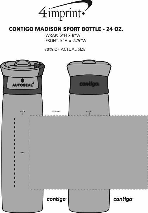 Imprint Area of Contigo Madison Sport Bottle - 24 oz.