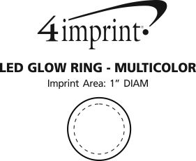 Imprint Area of LED Glow Ring - Multicolor