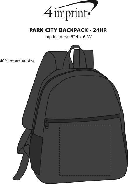 Imprint Area of Park City Backpack - 24 hr
