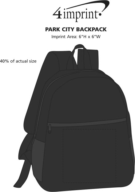 Imprint Area of Park City Backpack