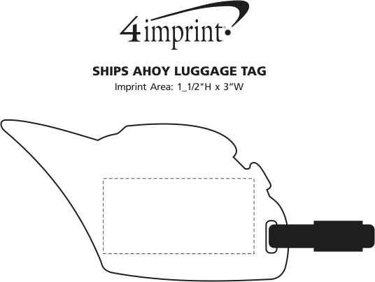 Imprint Area of Ships Ahoy Luggage Tag
