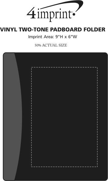 Imprint Area of Vinyl Two-Tone Padboard Folder