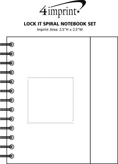 Imprint Area of Lock It Spiral Notebook Set