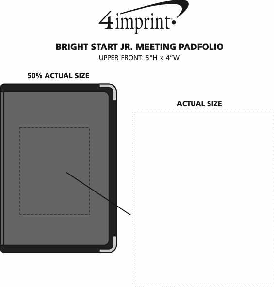 Imprint Area of Bright Start Jr. Meeting Padfolio