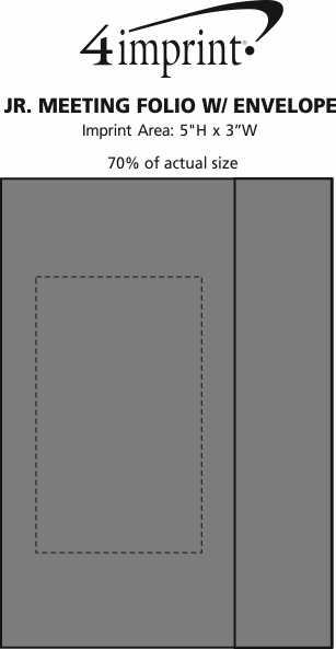 Imprint Area of Jr. Meeting Folio with Envelope