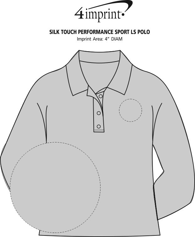 Imprint Area of Silk Touch Performance LS Sport Polo - Men's