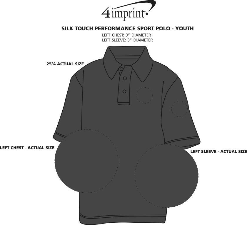 Imprint Area of Silk Touch Performance Sport Polo - Youth