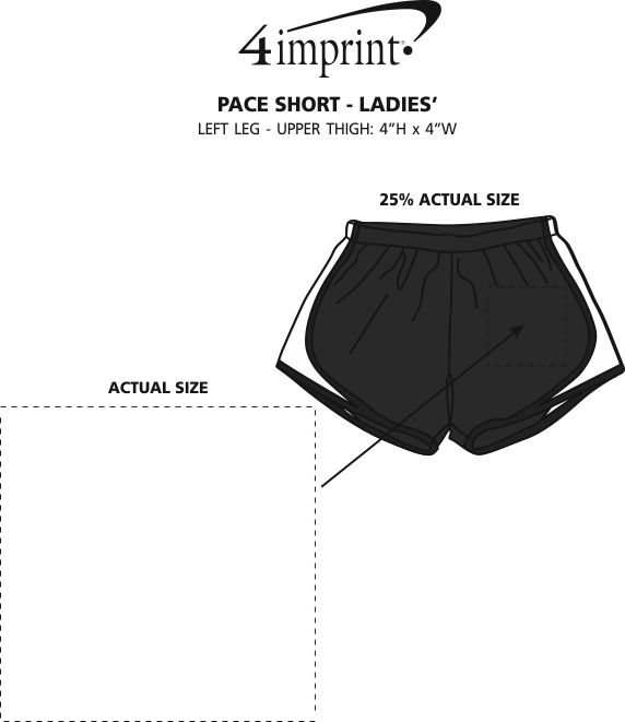 Imprint Area of Pace Shorts - Ladies'
