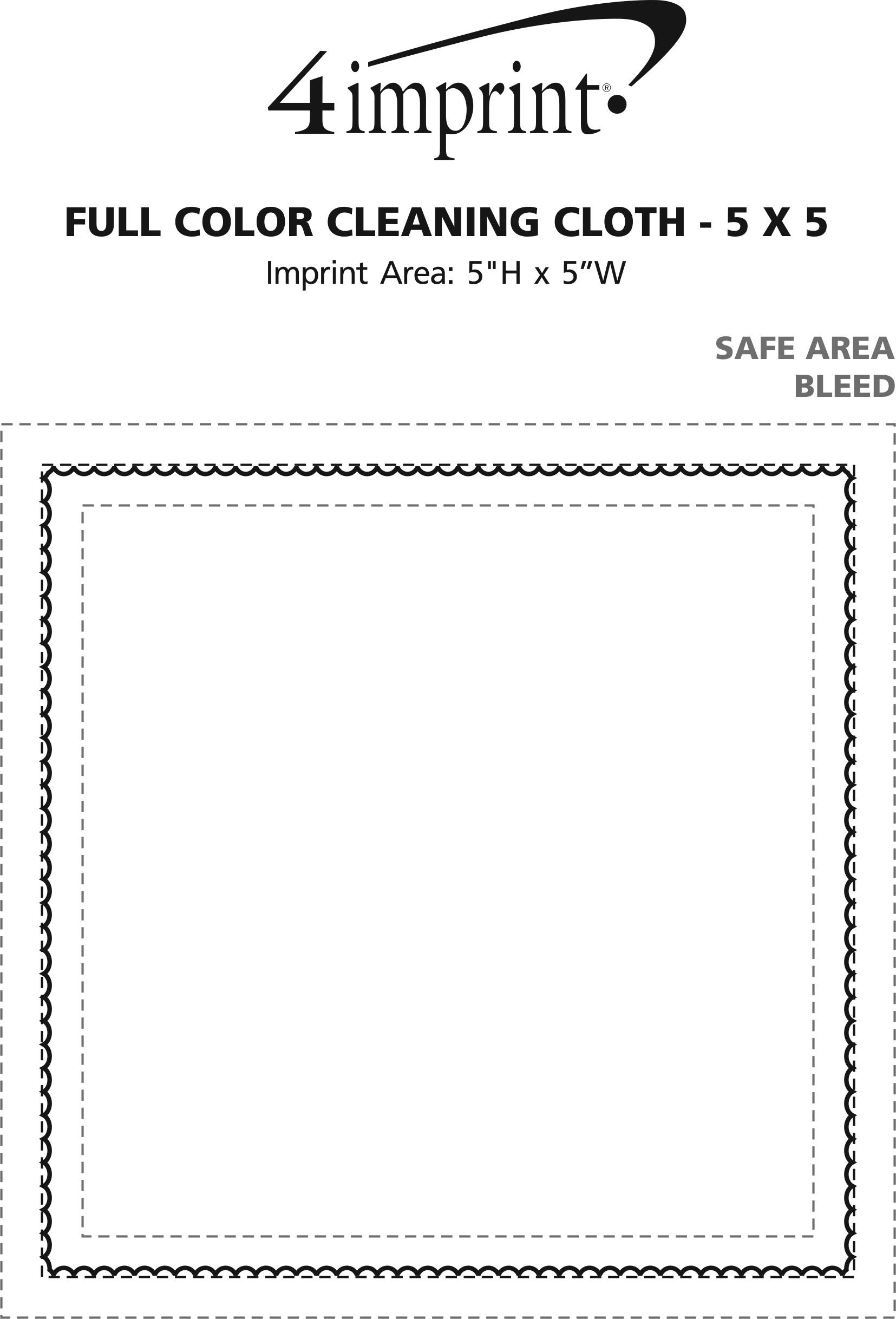 "Imprint Area of Full Color Cleaning Cloth - 5"" x 5"""
