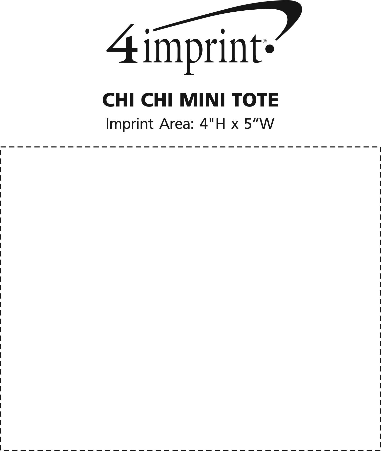 Imprint Area of Patterned Mini Tote