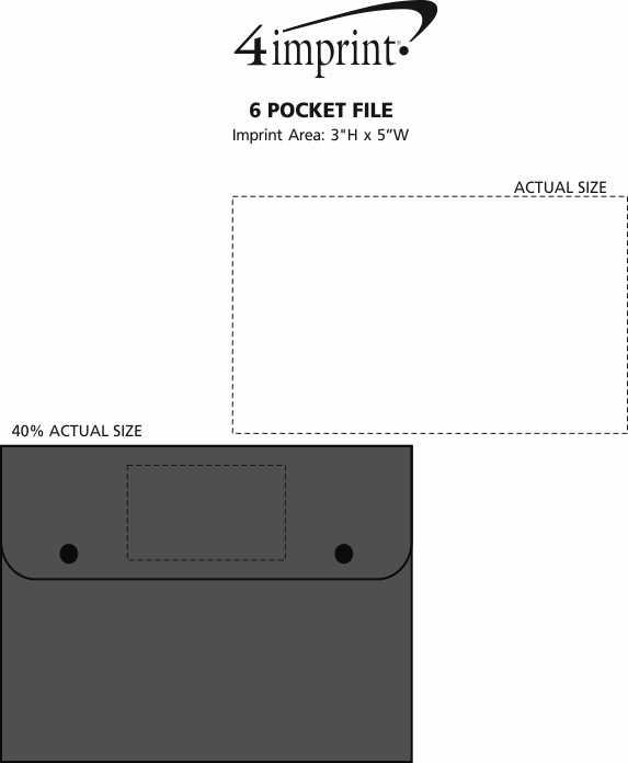 Imprint Area of 6 Pocket File