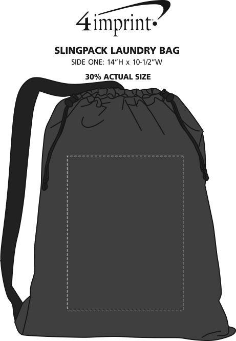 Imprint Area of Slingpack Laundry Bag