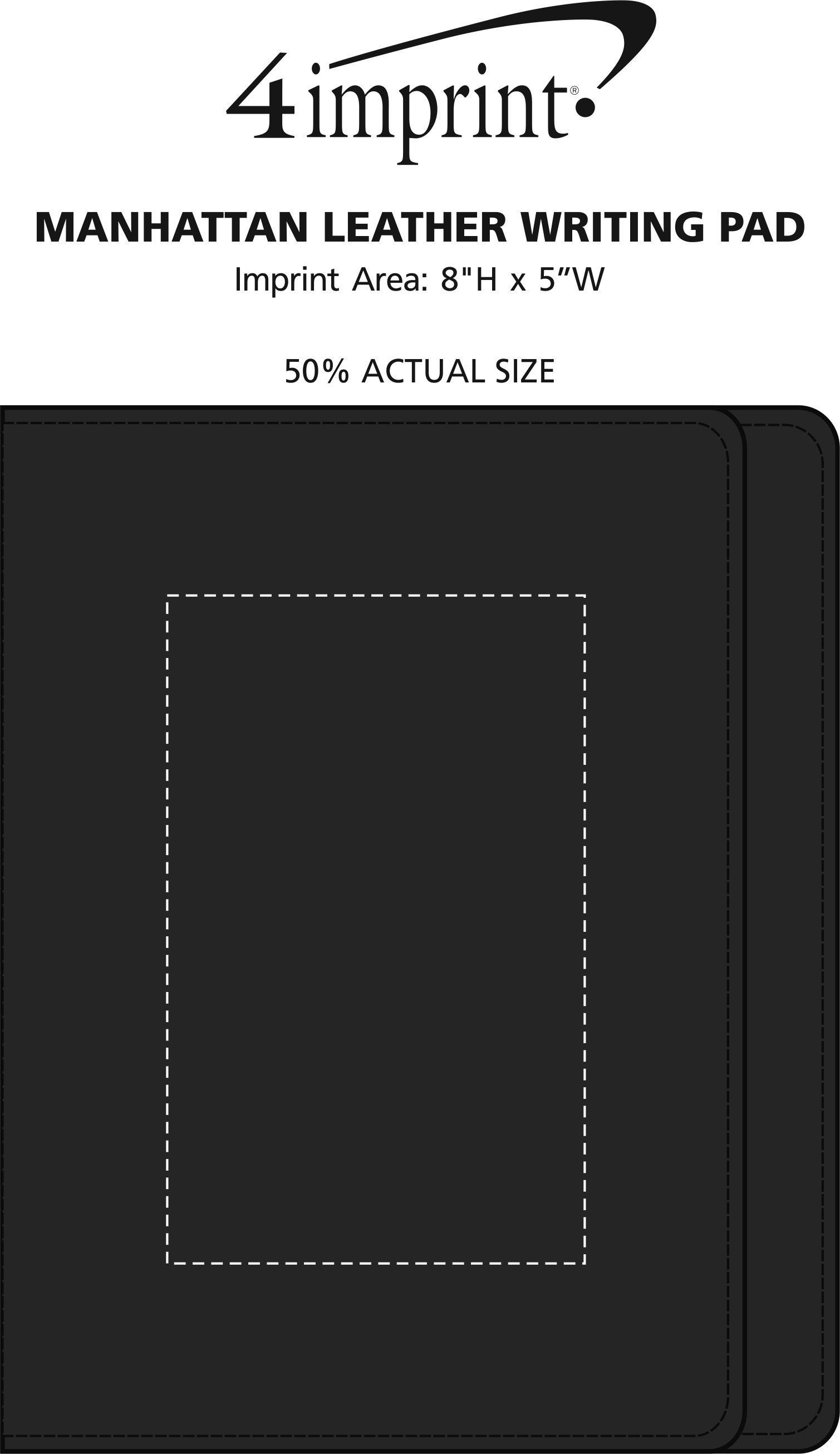 Imprint Area of Manhattan Leather Writing Pad