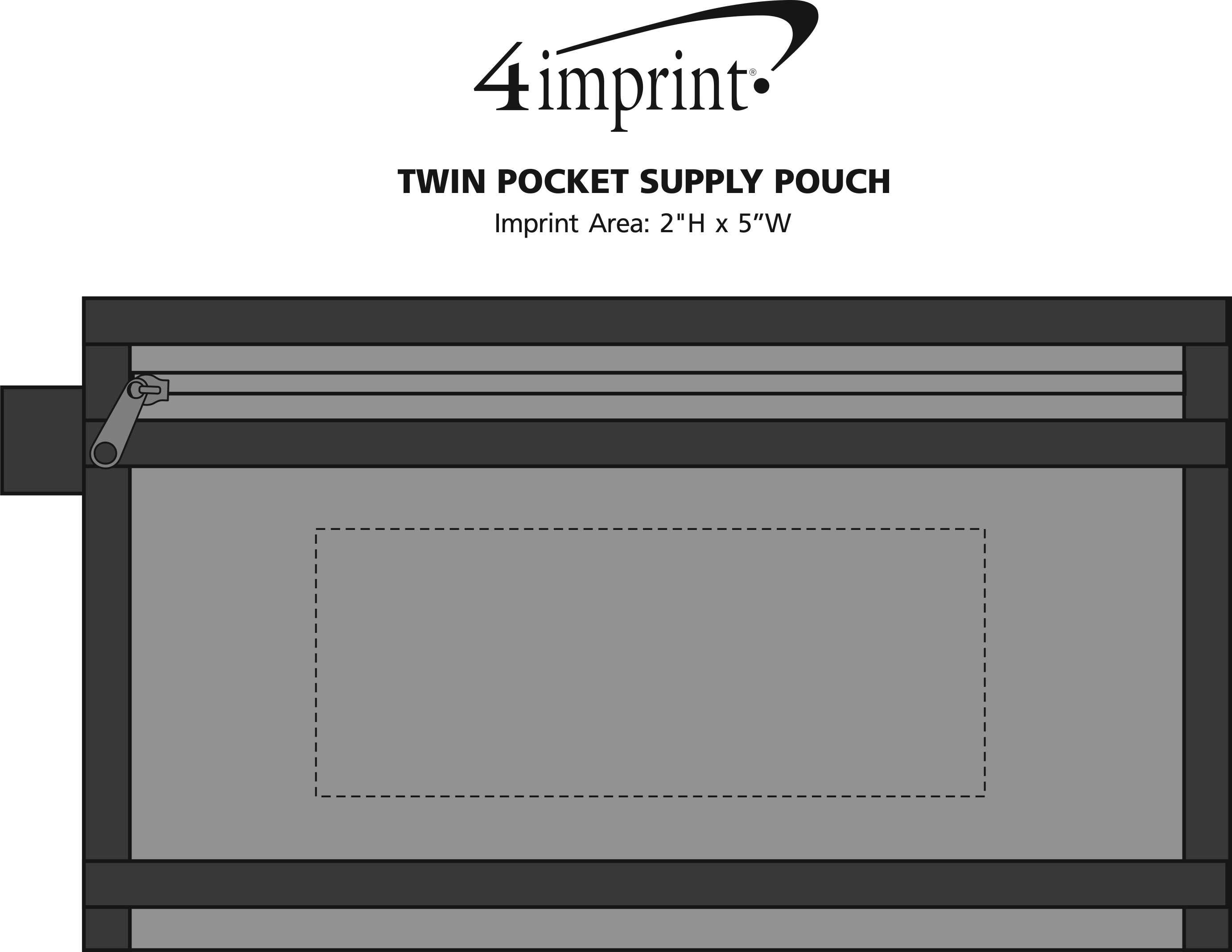 Imprint Area of Twin Pocket Supply Pouch