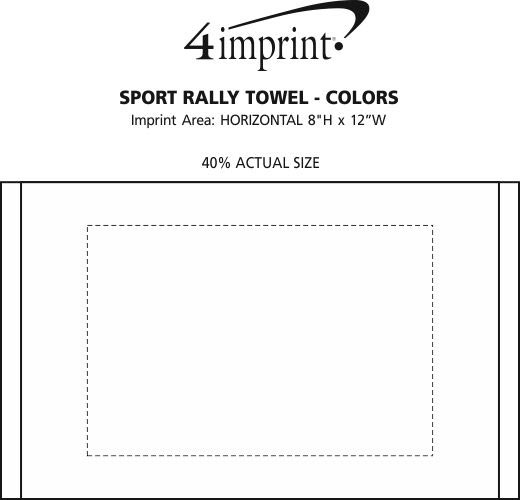 Imprint Area of Sport Rally Towel - Colors