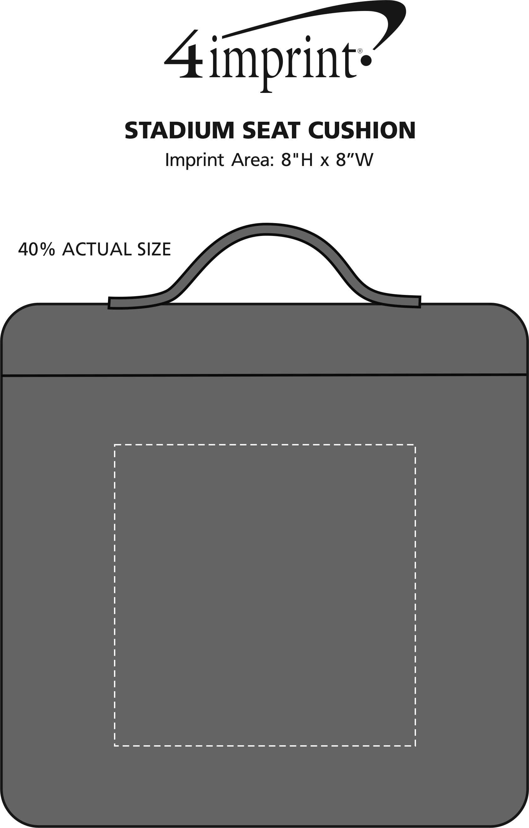 Imprint Area of Stadium Seat Cushion