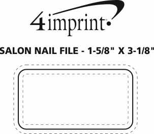 "Imprint Area of Salon Nail File - 1-5/8"" x 3-1/8"""