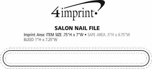 "Imprint Area of Salon Nail File - 3/4"" x 7"""