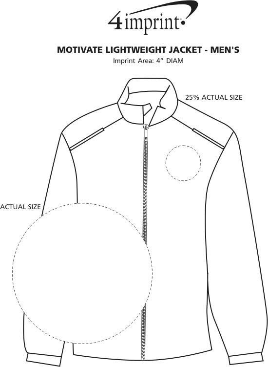 Imprint Area of Motivate Lightweight Jacket - Men's