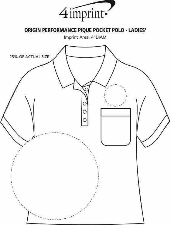 Imprint Area of Origin Performance Pique Pocket Polo - Ladies'