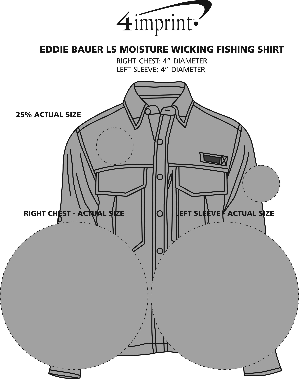 Imprint Area of Eddie Bauer LS Moisture Wicking Fishing Shirt