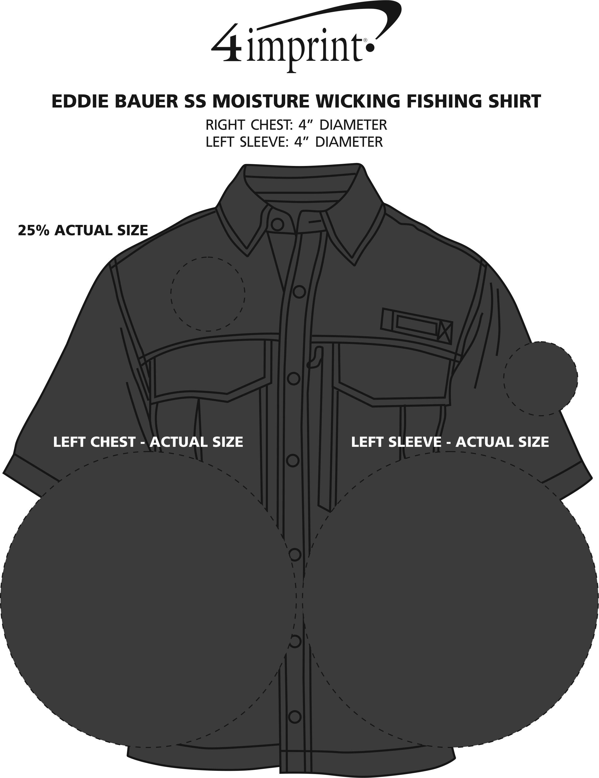 Imprint Area of Eddie Bauer SS Moisture Wicking Fishing Shirt
