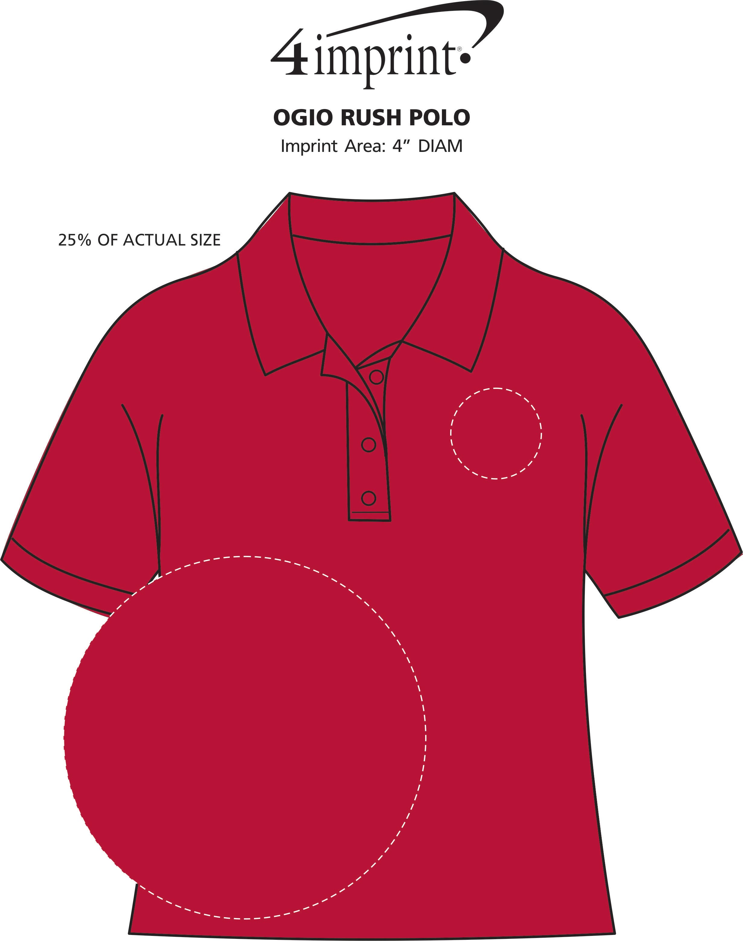 Imprint Area of OGIO Rush Polo