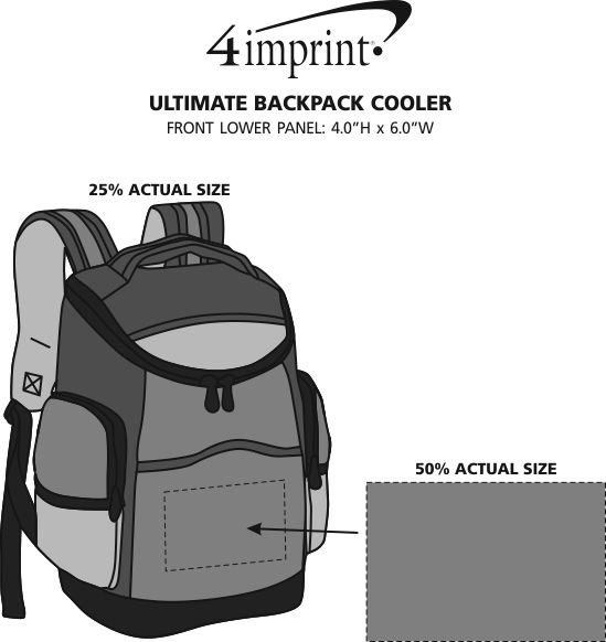 Imprint Area of Ultimate Backpack Cooler