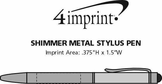 Imprint Area of Shimmer Stylus Metal Pen