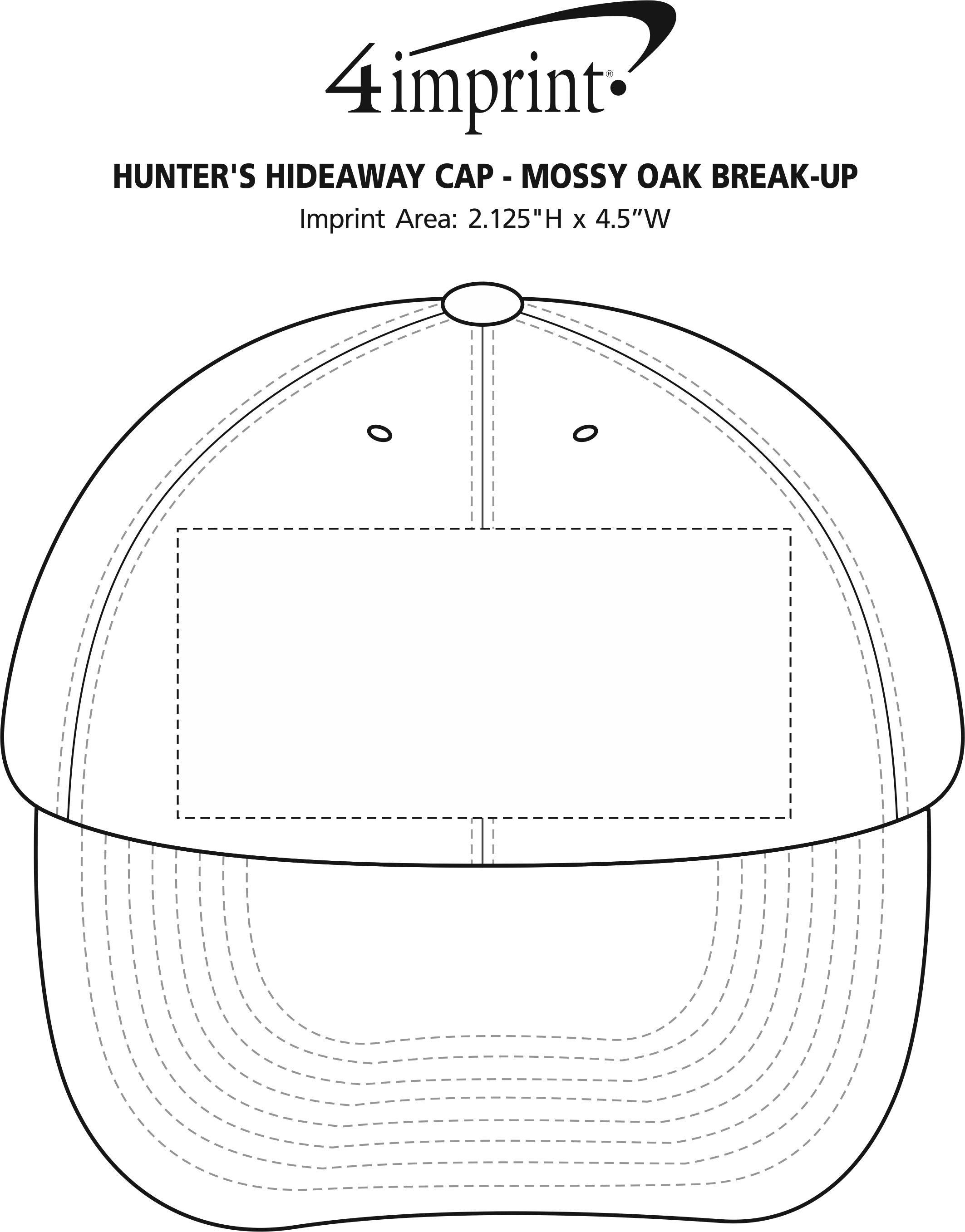 Imprint Area of Hunter's Hideaway Cap - Mossy Oak Break-Up