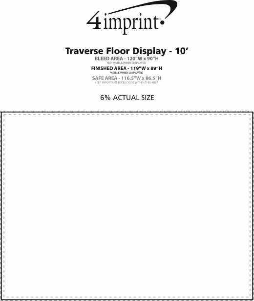 Imprint Area of Traverse Floor Graphic - 10' - Replacement Graphic