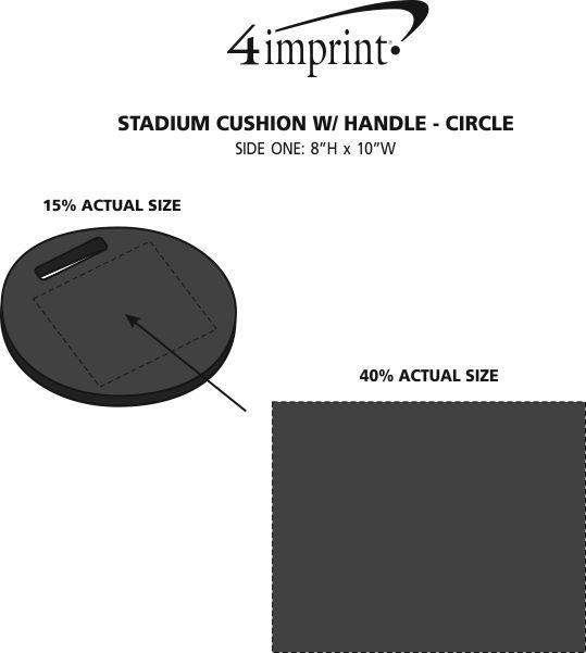 Imprint Area of Stadium Cushion with Handle - Circle
