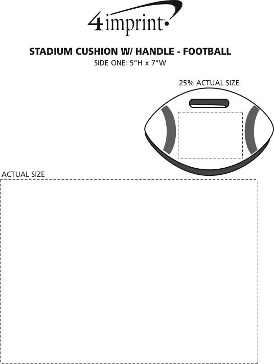 Imprint Area of Stadium Cushion with Handle - Football