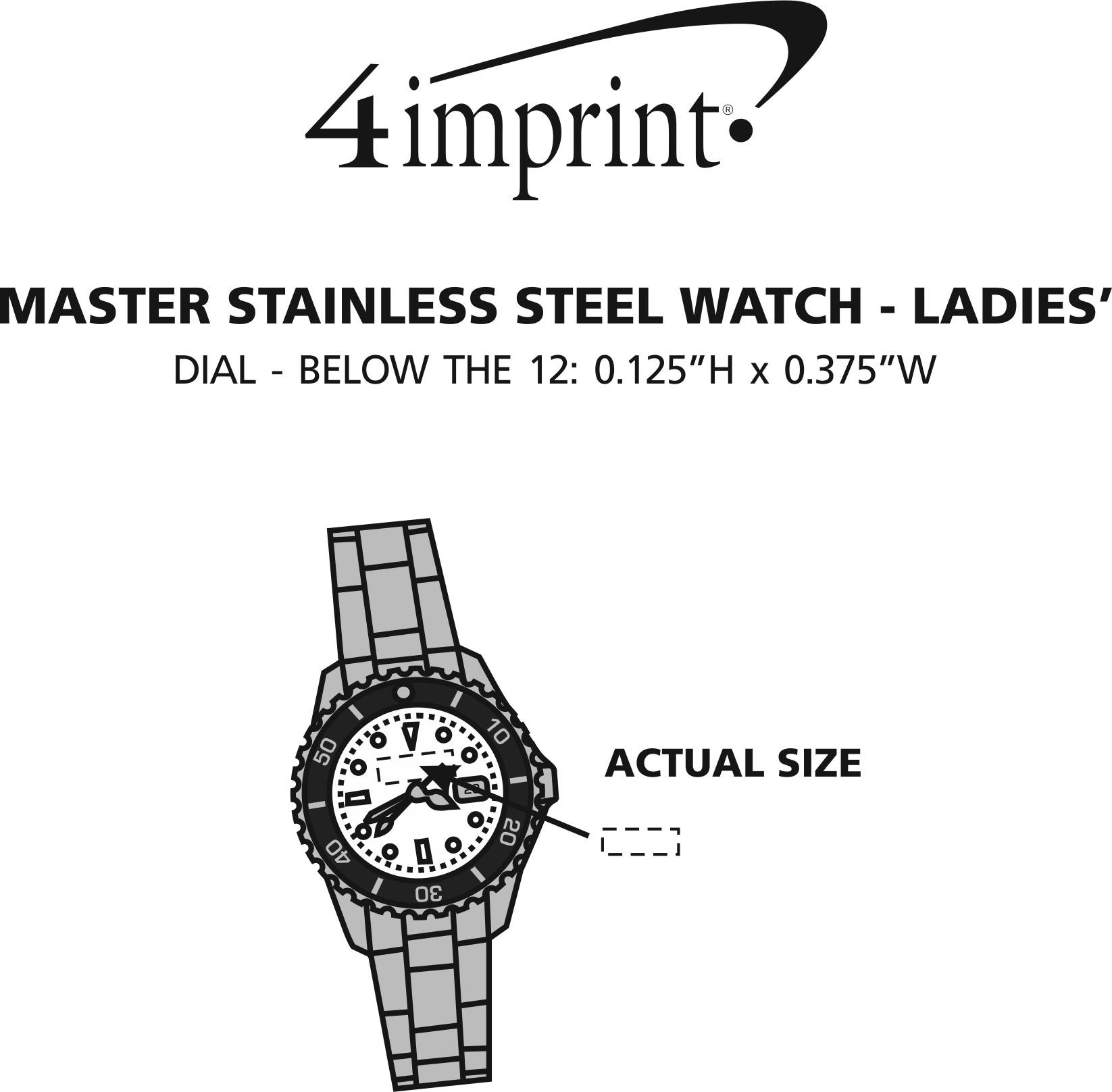 Imprint Area of Master Stainless Steel Watch - Ladies'