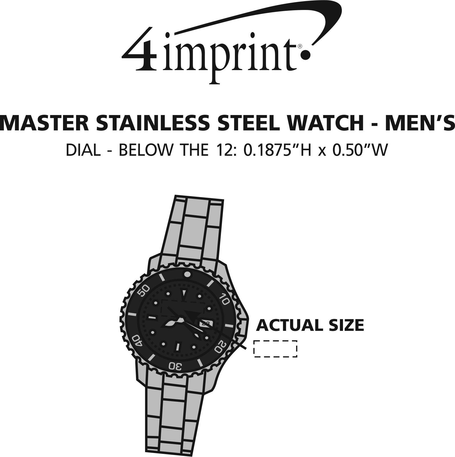 Imprint Area of Master Stainless Steel Watch - Men's