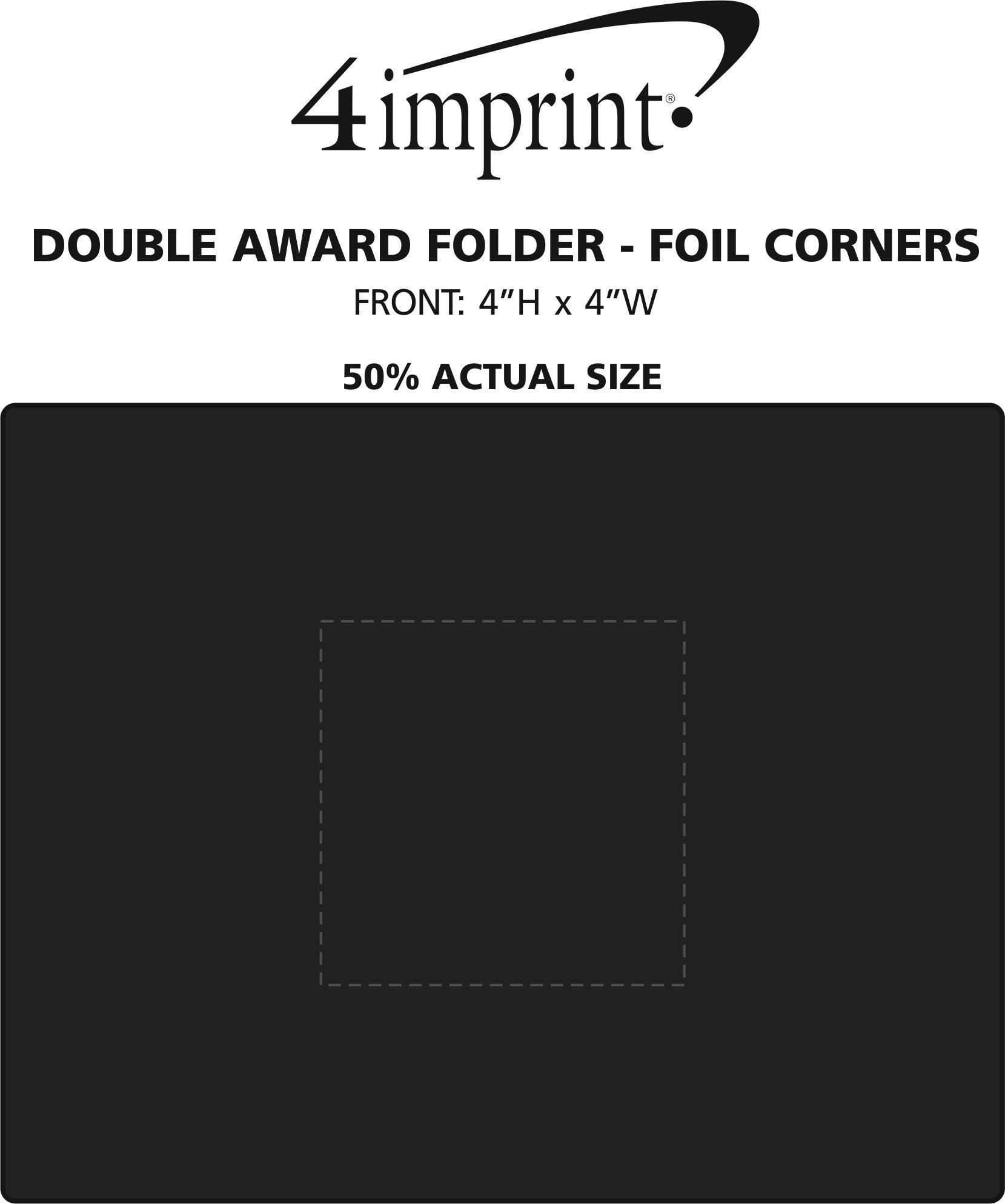 Imprint Area of Double Award Folder - Foil Corners
